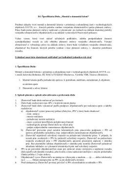 "D.1 Špecifikácia Diela ""Montáž a demontáž lešení"" Predmet zákazky"