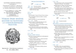 Výskum dejín knižnej kultúry na Slovensku a v stredoeurópskom