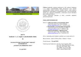 Pozvánka a prihláška - Univerzita sv. Cyrila a Metoda v Trnave