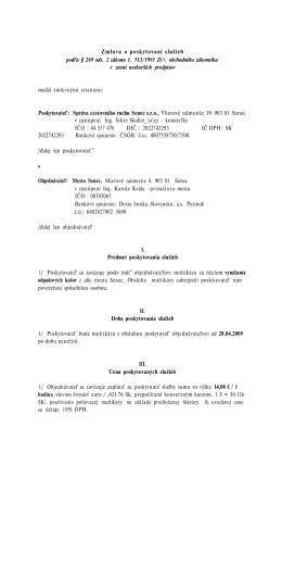 Zmluva o poskytovaní služieb podľa § 269 ods. 2 zákona č. 513