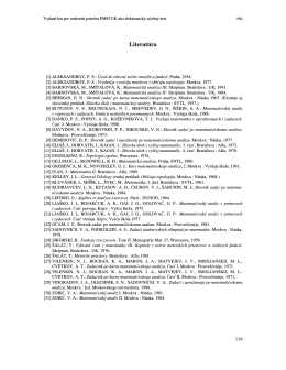 Literatúra - Katedra matematickej analýzy a numerickej matematiky