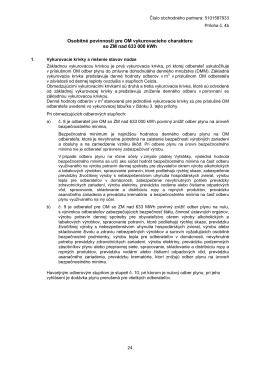 Osobitné povinnosti pre OM vykurovacieho charakteru so ZM nad