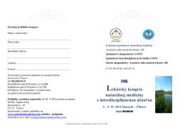 Program kongresu na stiahnutie - Lekárska spoločnosť naturálnej