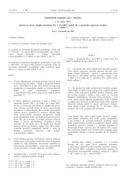 č. 283/2011 z 22. marca 2011, ktorým sa mení a dopĺňa nariadenie