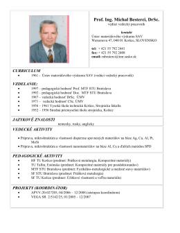 Prof. Ing. Michal Besterci, DrSc.