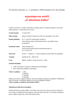 Propozice  - Novoborské mažoretky
