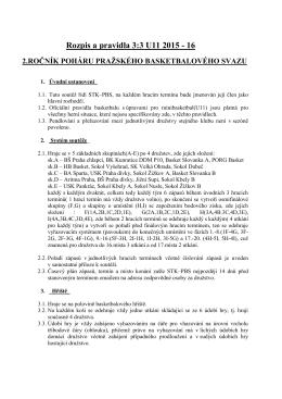 Rozpis a pravidla 3:3 U11 2015/16