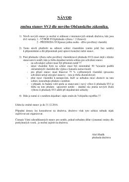 NÁVOD změna stanov SVJ dle nového Občanského zákoníku.