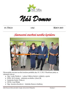 Slavnostní otevření nového koridoru