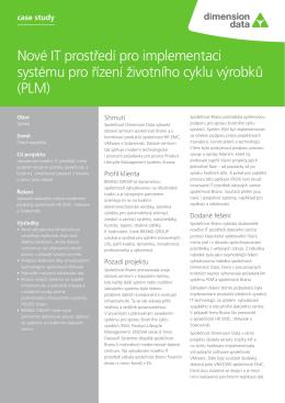 Nové IT prostředí pro implementaci systému pro řízení životního