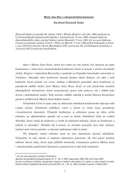 1 Mistr Jan Hus v ekumenickém kontextu Kardinál