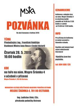 F. Valdštýn - Osobnost Mistra Jana Husa