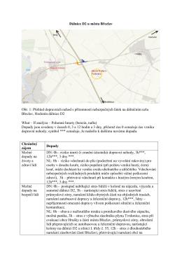 Dálnice D2 u města Břeclav Obr. 1: Přehled dopravních nehod s