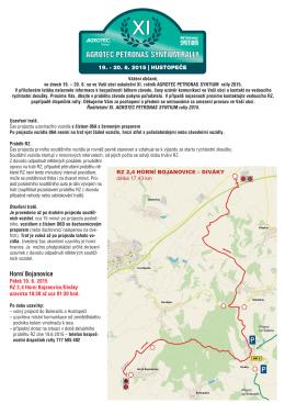 Horní Bojanovice - AGROTEC Rally Hustopeče