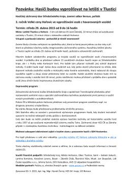 2015 Tisková zpráva VC Hořovice Hol
