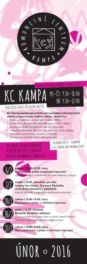 Program únor 2016  - Komunitní centrum Kampa
