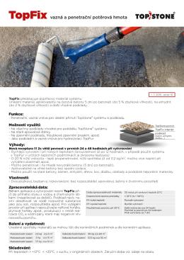 TopFix - vazná a penetrační potěrová hmota