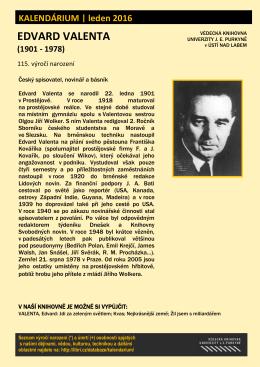 Edvard Valenta (1901 - 1978)