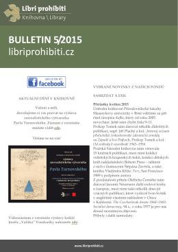 Bulletin 2015/05 - Libri prohibiti