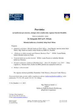 Pozvánka  - Knihovna Bedřicha Beneše Buchlovana
