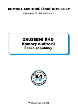ZKušebNÍ řád Komory auditorů - Komora auditorů České republiky
