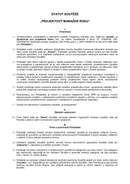 STATUT SOUTĚŽE - Společnost pro projektové řízení