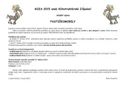 KOZA 2015 aneb KOnstruktérské ZÁpolení PASTIČKOMOBILY
