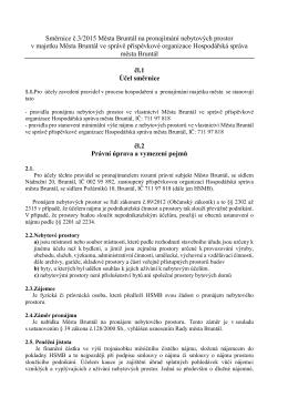 Směrnice č.3/2015 Města Bruntál na pronajímání nebytových prostor