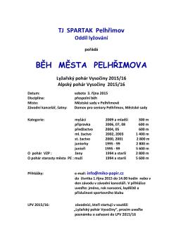 Běh města Pelhřimova