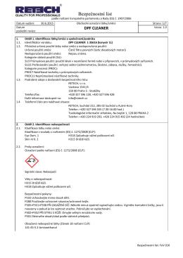 Bezpečnostní list - kanystr [REACH II]