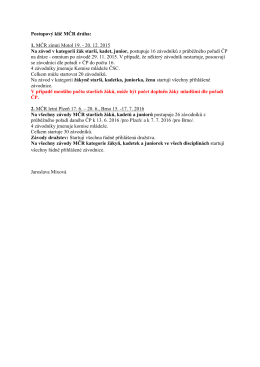 Postupový klíč dráha 2015-16