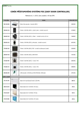 FDI-EDC, přístupový systém Easy Door Controller