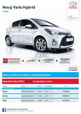 Nový Yaris Hybrid Ceník