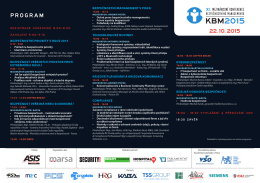 program - KBM 2015