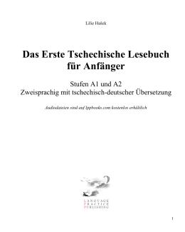 Leseprobe: Lektion 1 bis 7  - Tschechisch