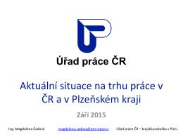 Trh práce v ČR a v Plzeňském kraji