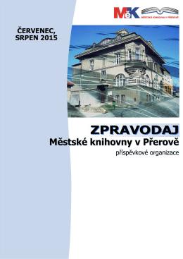 Zpravodaj - 07_08/2015 - Městská knihovna v Přerově, po