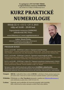 Kurz praktické numerologie 1.