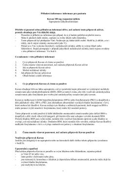 Příbalová informace: informace pro pacienta Kuvan 100 mg