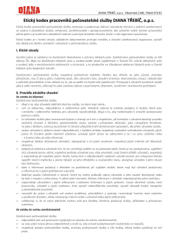 Etický kodex pracovníků pečovatelské služby