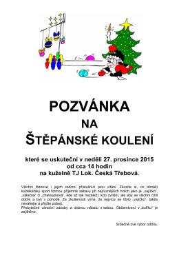 v pozvánce zde - TJ Lokomotiva Česká Třebová