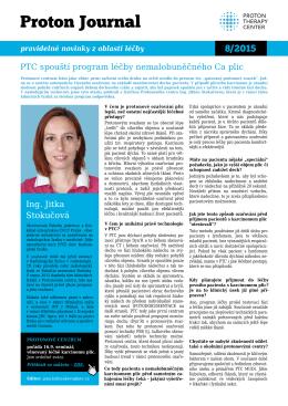 Proton Journal 8/2015 Nový program léčby nemalobuněčného