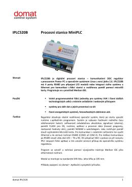 IPLC520B Procesní stanice MiniPLC