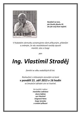 Ing. Vlastimil Straděj