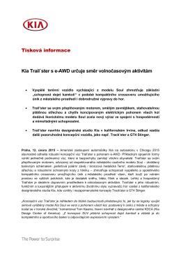 Tisková informace Kia Trail´ster s e-AWD určuje - kia