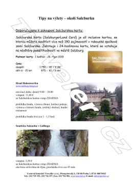 Tipy na výlety – okolí Salcburku