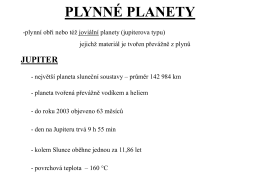 plynné planety