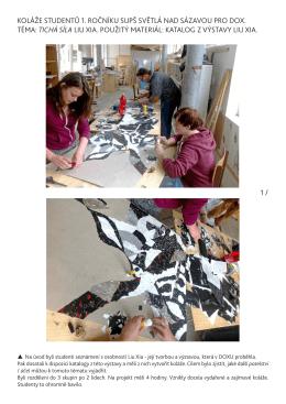 Koláže - práce studentů navazující na exkurzi