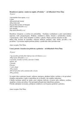 Recepty s Regionální potravinou od šéfkuchaře Petra Šímy