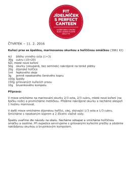 ČTVRTEK – 11. 2. 2016